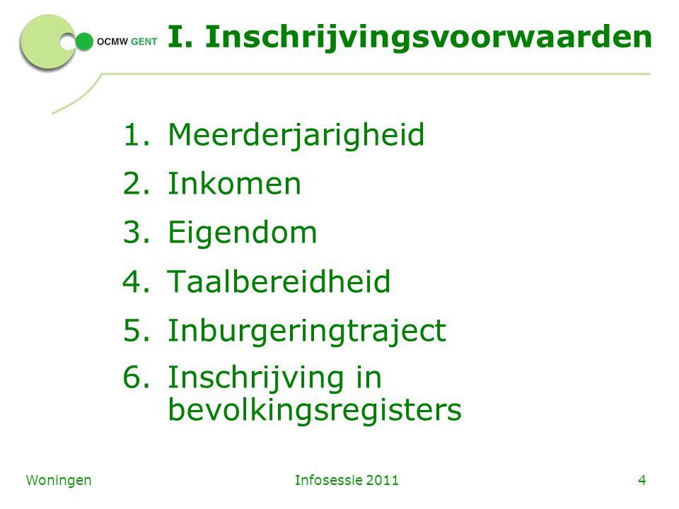 Infosessie 20114Woningen I.