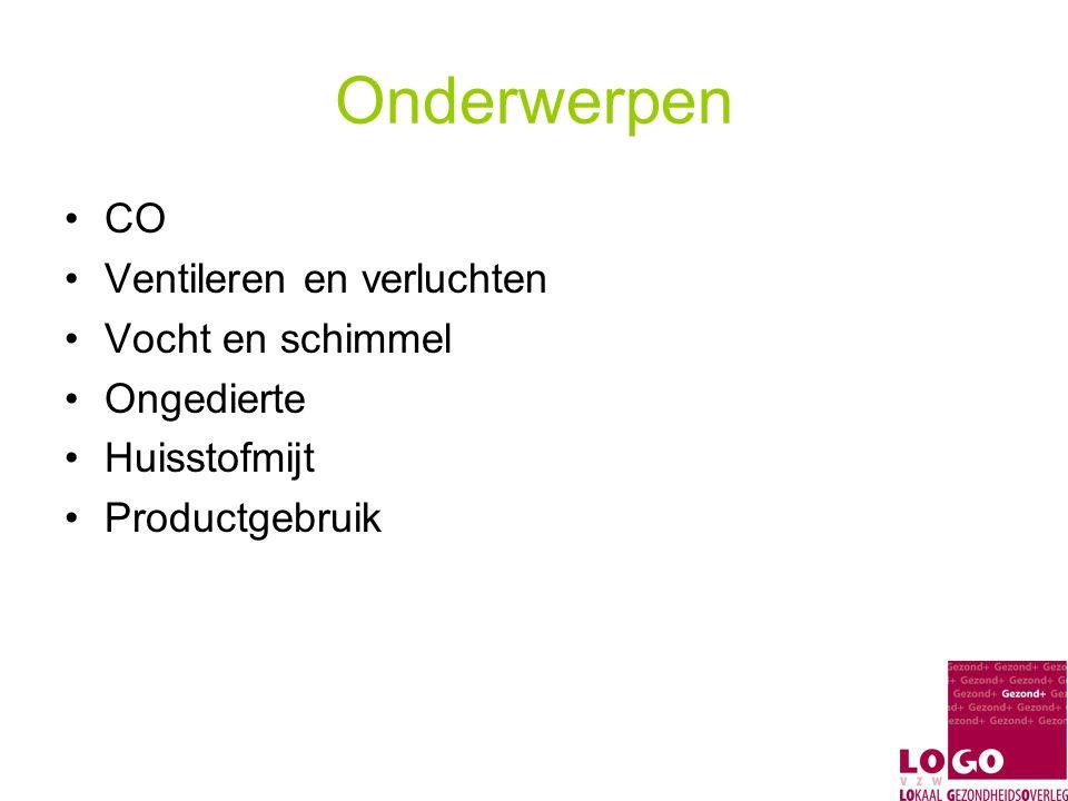 Materialen CO Affiches Folder Stad Gent: Nederlands, Engels, Frans, Bulgaars, Turks, Spaans… Folder MMK 'CO, een stille moordenaar in huis' Checklijst Tentoonstellingsbanners CO-vorming