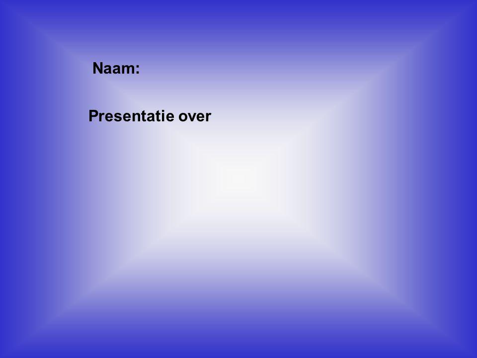 """Naam: Presentatie over Klik op """"Naam"""". Vul je naam in. Doe hetzelfde met """"hobby"""" Hier kun je een foto / tekening Invoegen"""