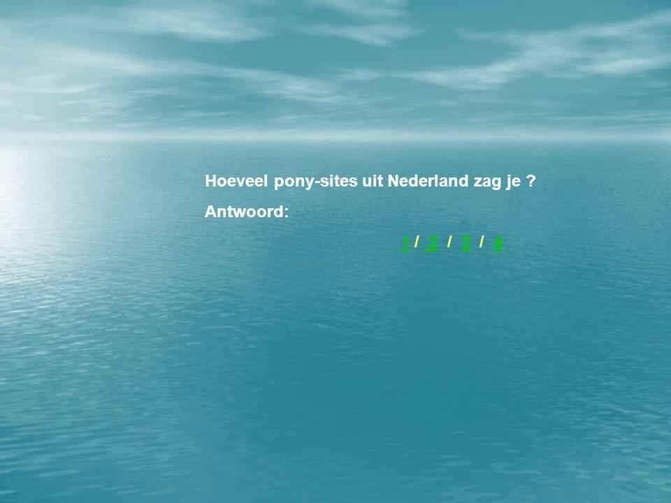 Hoeveel pony-sites uit Nederland zag je Antwoord: 1 / 2 / 3 / 41 234