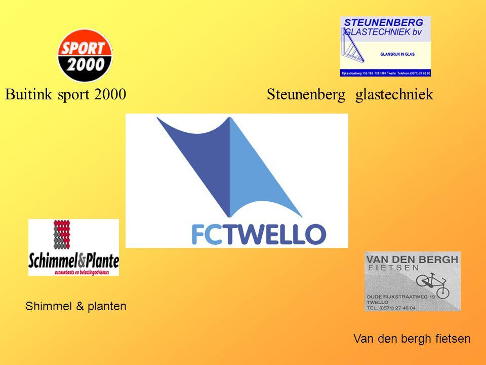 Buitink sport 2000Steunenberg glastechniek Shimmel & planten Van den bergh fietsen