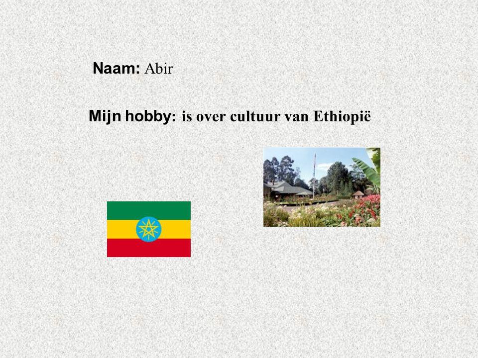 """Naam: Abir Mijn hobby : is over cultuur van Ethiopië Klik op """"Naam"""". Vul je naam in. Doe hetzelfde met """"hobby"""" Hier kun je een foto / tekening Invoege"""