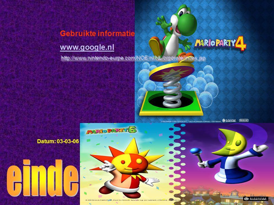 Gebruikte informatie: www.google.nl Datum: 03-03-06 Welke informatie heb je gebruikt : -Boeken -Internetsites -Clubblaadje -Eigen ervaring -Informatie