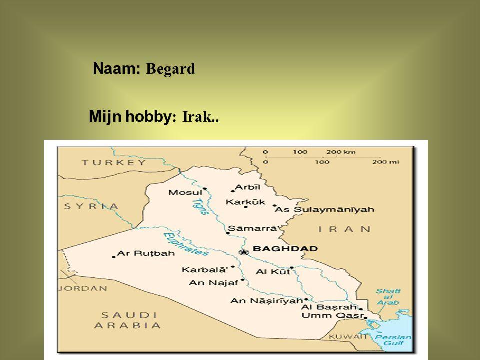 """Naam: Begard Mijn hobby : Irak.. Klik op """"Naam"""". Vul je naam in. Doe hetzelfde met """"hobby"""" Hier kun je een foto / tekening Invoegen"""