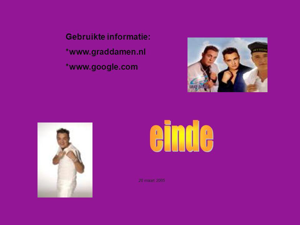 Gebruikte informatie: *www.graddamen.nl *www.google.com Welke informatie heb je gebruikt : -Boeken -Internetsites -Clubblaadje -Eigen ervaring -Inform