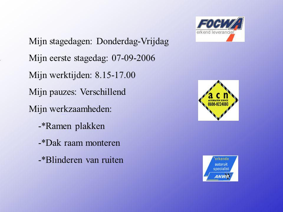 * autoglasservice** Adres: Hamburgweg 7 Plaats: Deventer **Wat voor bedrijf is het .