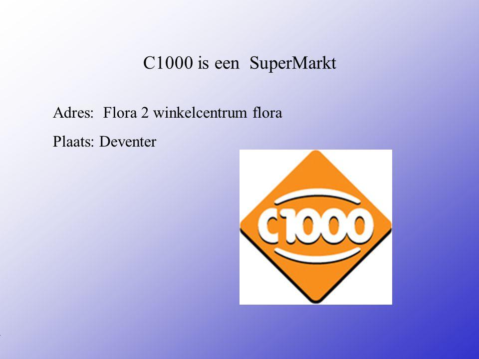 Mijn stage bij : C1000 Hans Kok Naam: Sheriva Klas: 4A Jaar: 2009 Typ bij * de naam van het bedrijf Typ hier je eigen naam Typ de klas waar je nu zit