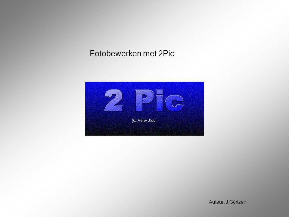 Fotobewerken met 2Pic Auteur: J.Görtzen