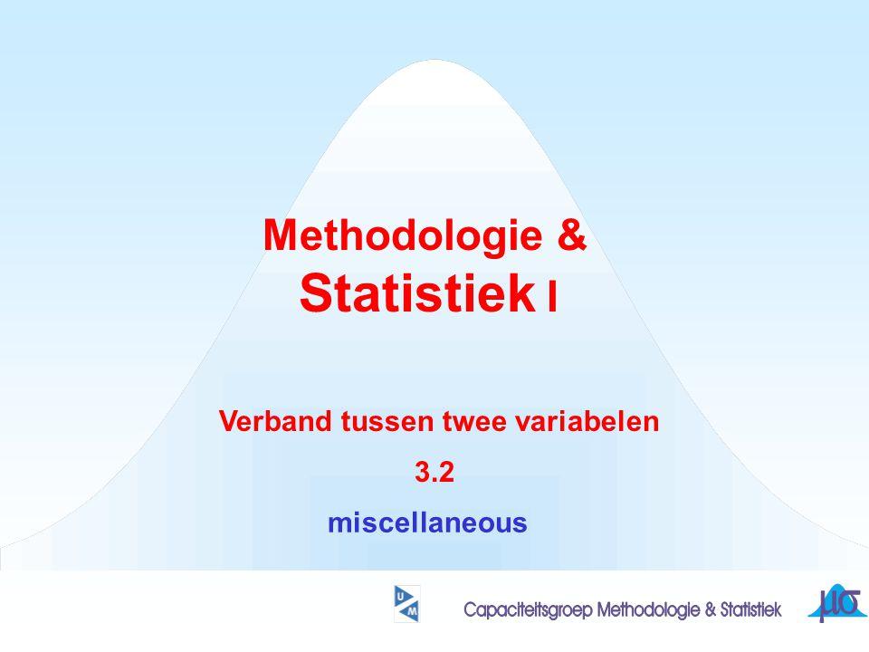 Methodologie & Statistiek I Verband tussen twee variabelen 3.2 miscellaneous