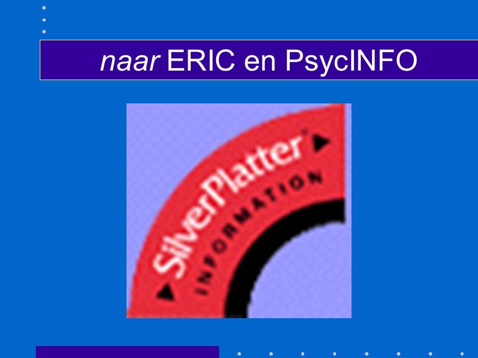naar ERIC en PsycINFO