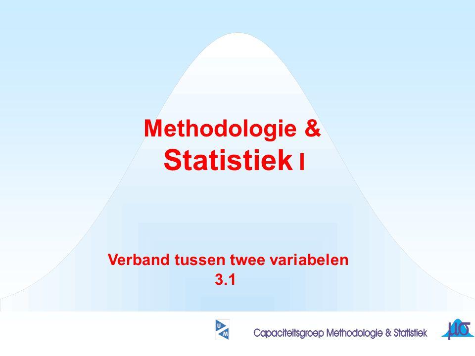 Methodologie & Statistiek I Verband tussen twee variabelen 3.1