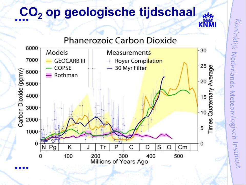 CO 2 op geologische tijdschaal