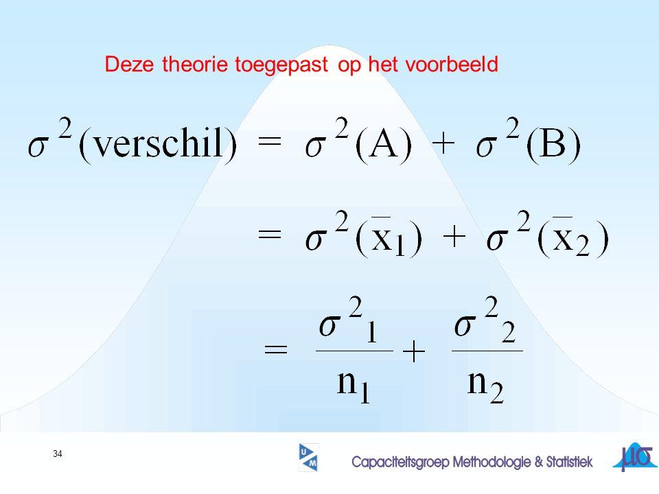 34 Deze theorie toegepast op het voorbeeld