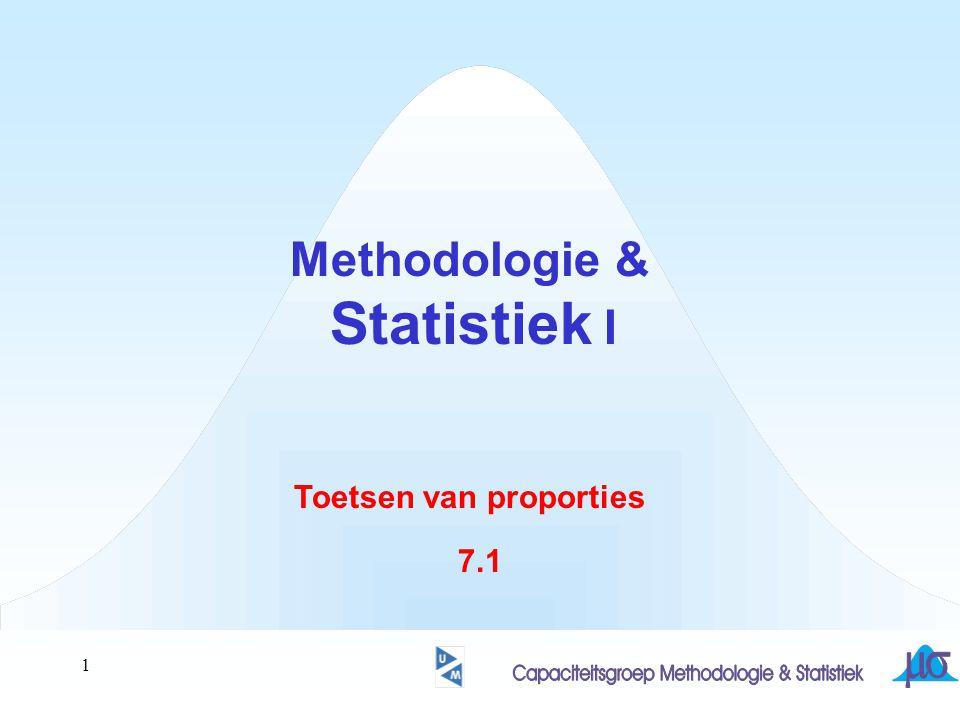 1 Methodologie & Statistiek I Toetsen van proporties 7.1