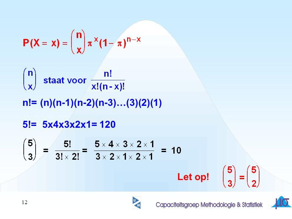 12 n!= (n)(n-1)(n-2)(n-3)…(3)(2)(1) 5!= 5x4x3x2x1= 120 Let op!