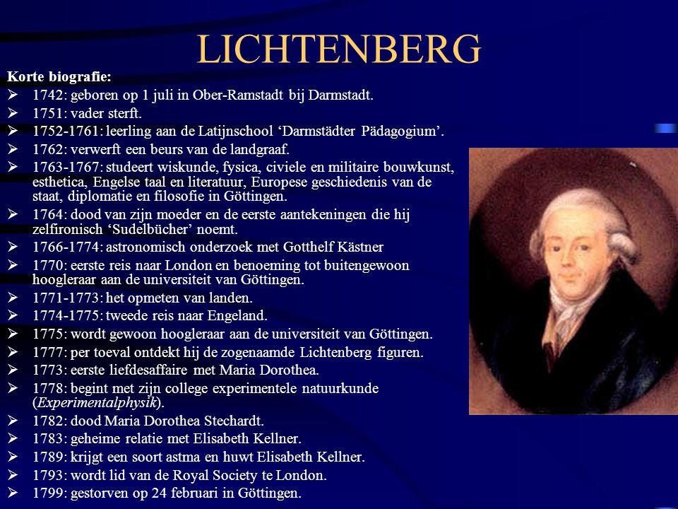 LICHTENBERG Korte biografie:  1742: geboren op 1 juli in Ober-Ramstadt bij Darmstadt.