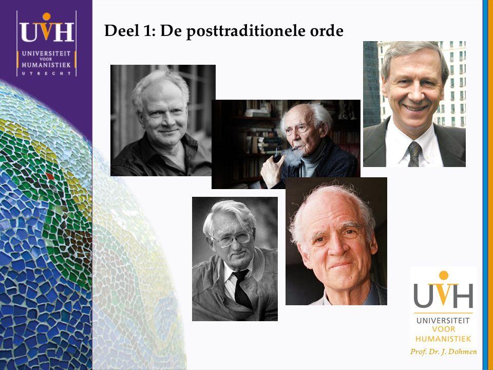 Prof. Dr. J. Dohmen Deel 1: De posttraditionele orde