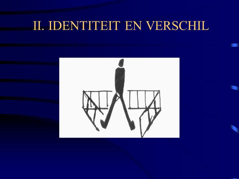 II. IDENTITEIT EN VERSCHIL