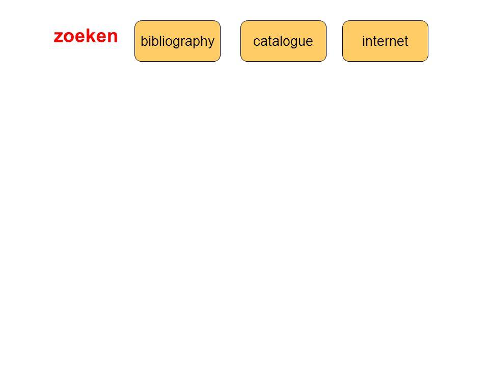 bibliographycatalogueinternet zoeken