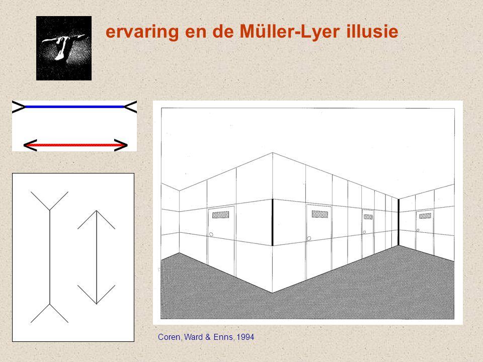 ervaring en de Müller-Lyer illusie Coren, Ward & Enns, 1994