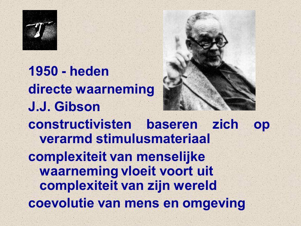 1950 - heden directe waarneming J.J.
