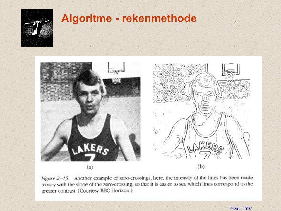 Algoritme - rekenmethode Marr, 1982