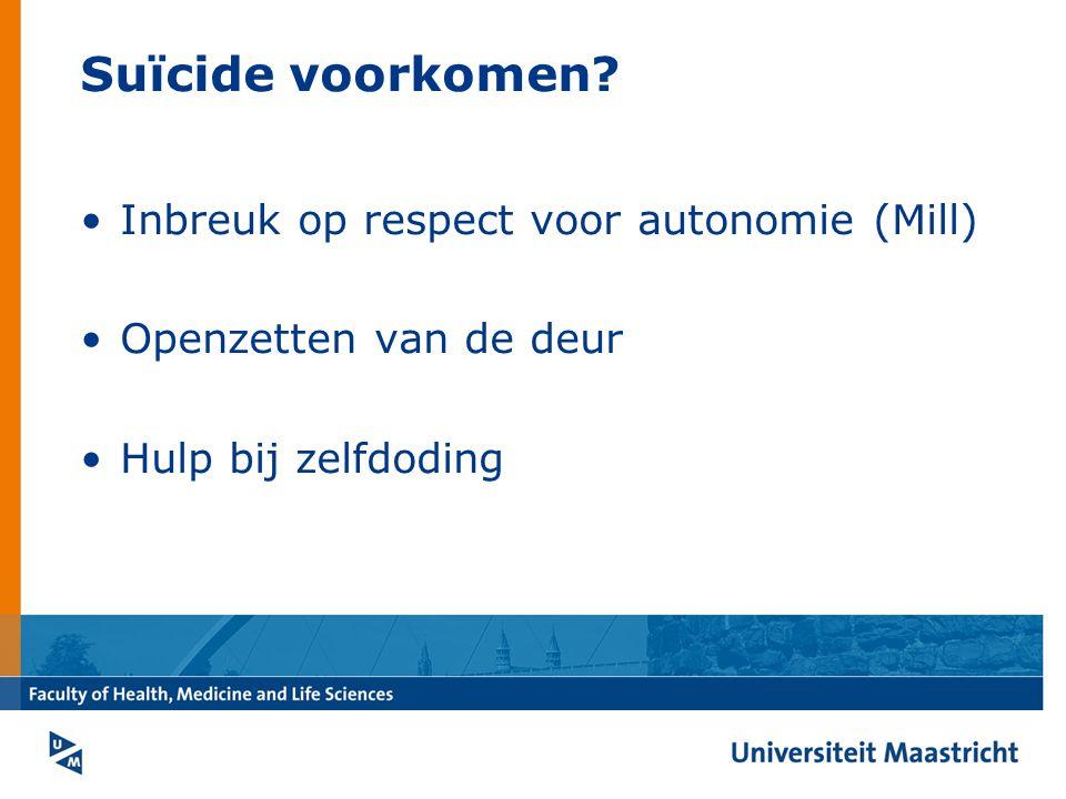 Suïcide voorkomen.