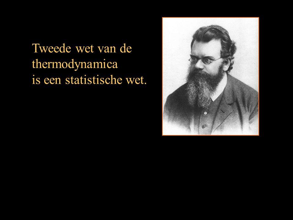 Tweede wet van de thermodynamica is een statistische wet.