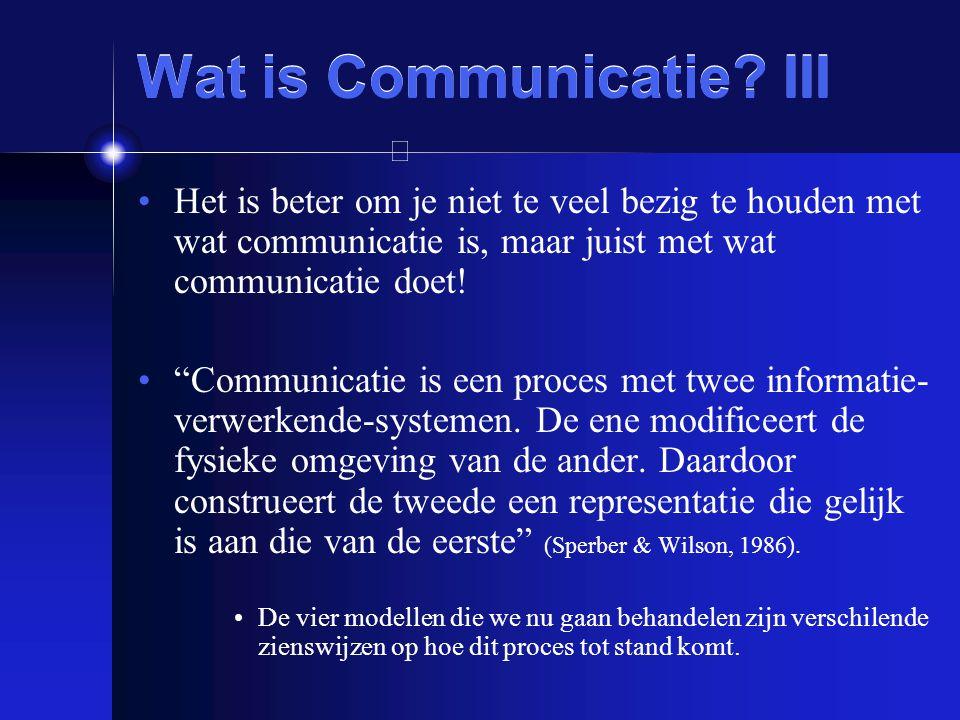 """Wat is Communicatie? III Het is beter om je niet te veel bezig te houden met wat communicatie is, maar juist met wat communicatie doet! """"Communicatie"""