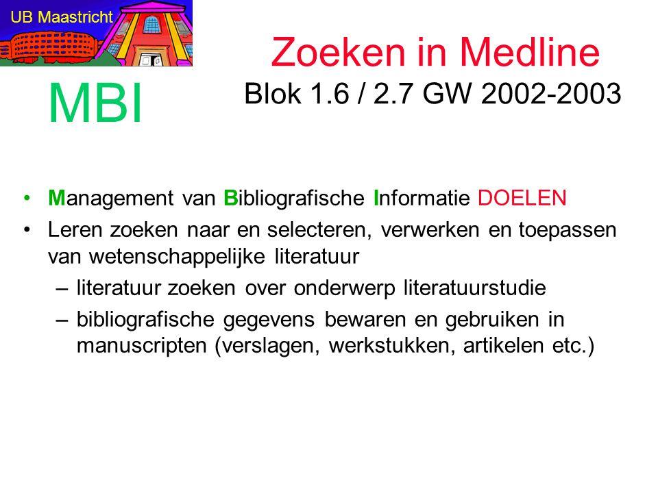 Definitie: elektronische bibliografie Gestandaardiseerd format van referenties als records met velden voor auteur, titel etc.: fields user interface / search engine zoeken volgens verzamelingenleer: booleaans zoeken >