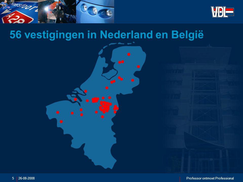 26-08-2008Professor ontmoet Professional6 17 vestigingen in de rest van Europa 4 vestigingen buiten Europa: USA Singapore China Zuid-Afrika