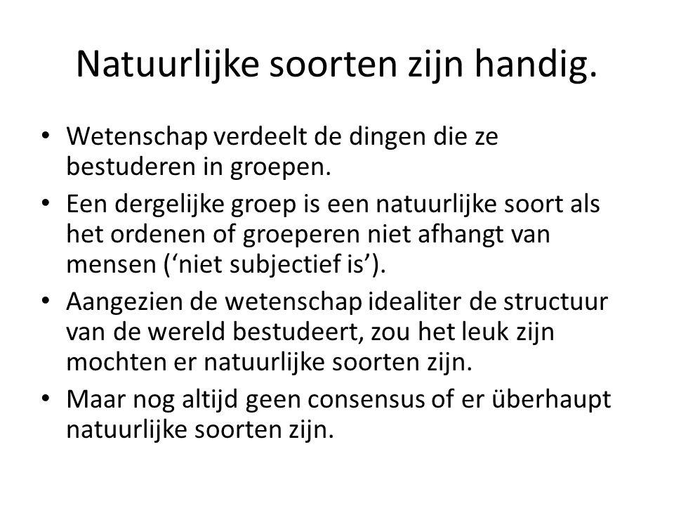 Enkele criteria voor natuurlijke soorten – Gemeenschappelijke eigenschap.