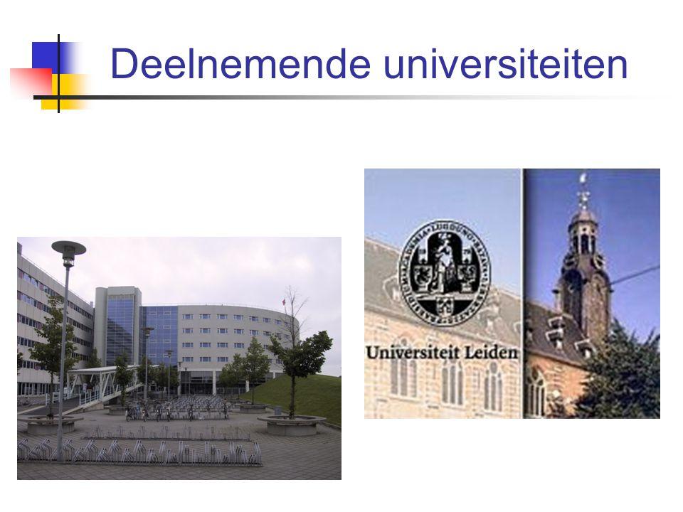 Deelnemende universiteiten