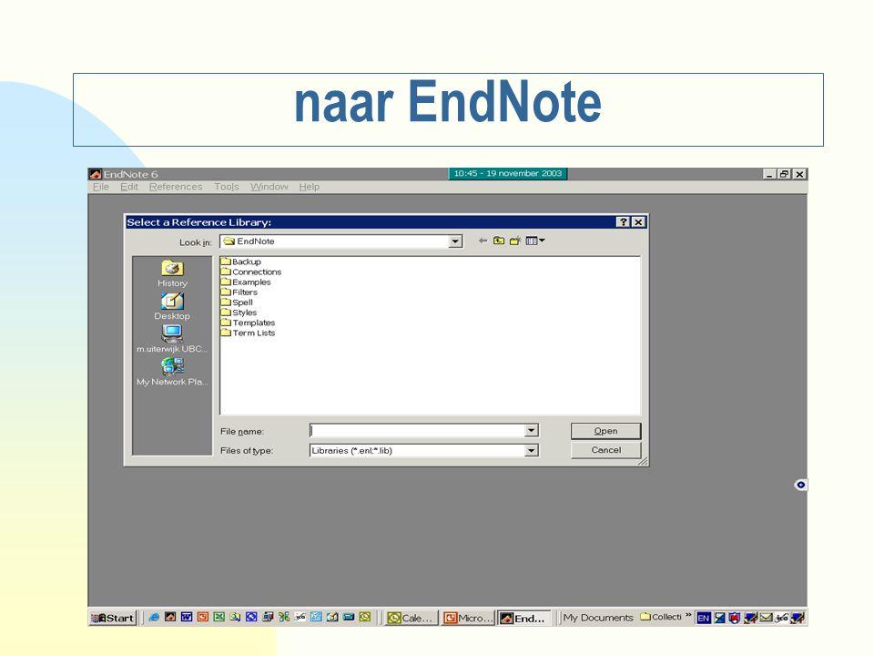 naar EndNote
