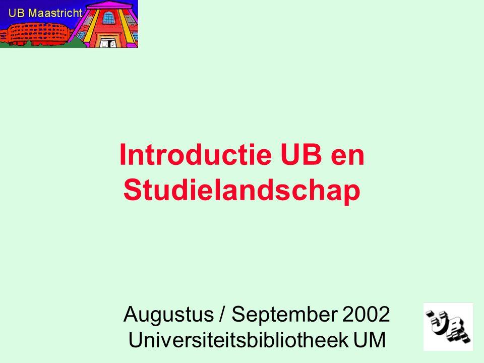 Programma: Waarom en Hoe van UB / StudielandschapWaarom en Hoe van UB / Studielandschap Spelregels, veiligheid….
