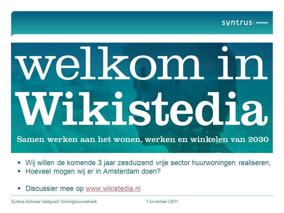  Wij willen de komende 3 jaar zesduizend vrije sector huurwoningen realiseren,  Hoeveel mogen wij er in Amsterdam doen.