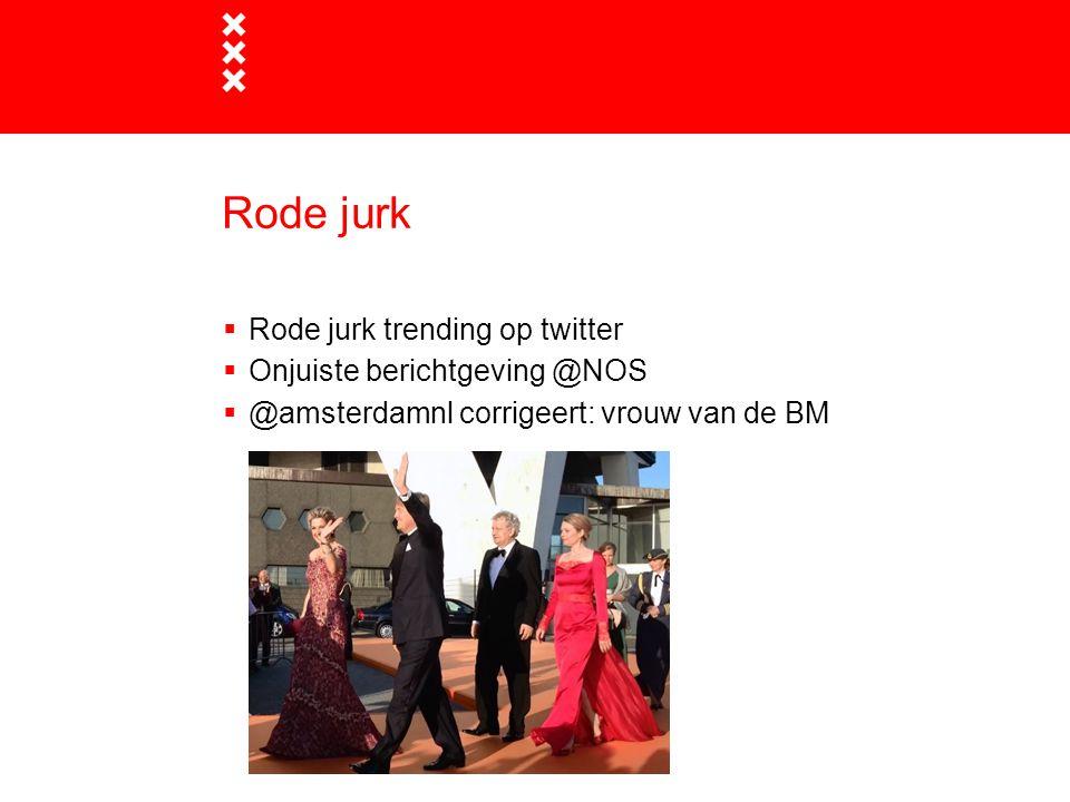 Rode jurk  Rode jurk trending op twitter  Onjuiste berichtgeving @NOS  @amsterdamnl corrigeert: vrouw van de BM