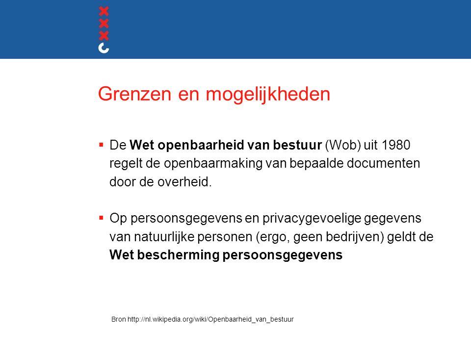 Grenzen en mogelijkheden  De Wet openbaarheid van bestuur (Wob) uit 1980 regelt de openbaarmaking van bepaalde documenten door de overheid.
