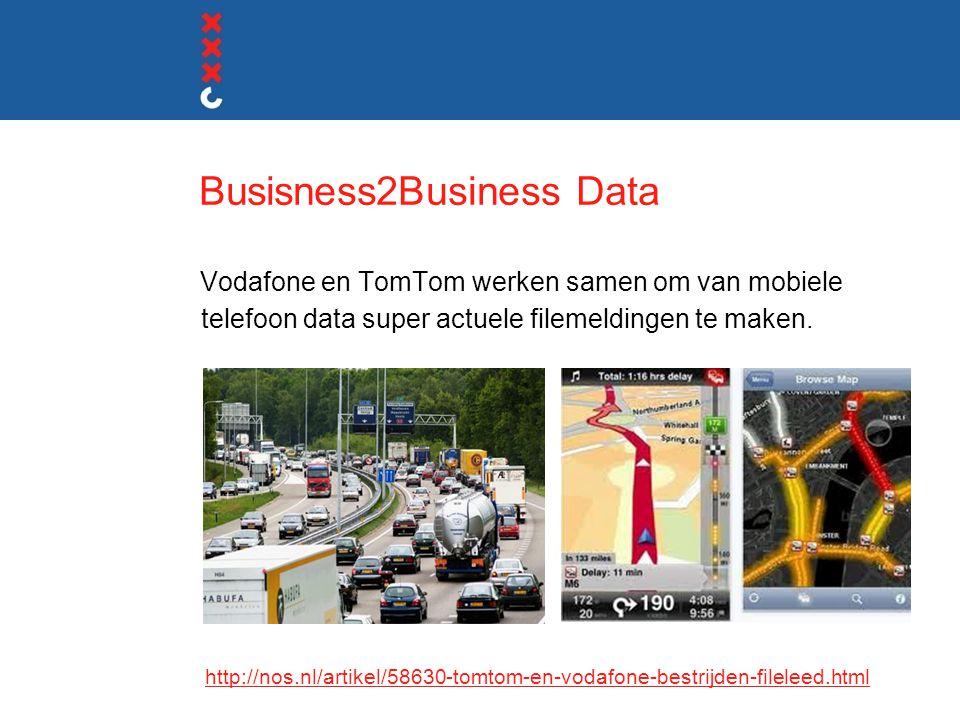 Busisness2Business Data Vodafone en TomTom werken samen om van mobiele telefoon data super actuele filemeldingen te maken.