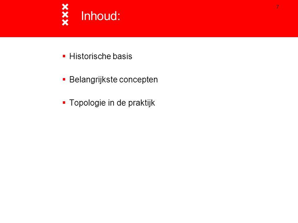 7  Historische basis  Belangrijkste concepten  Topologie in de praktijk Inhoud: