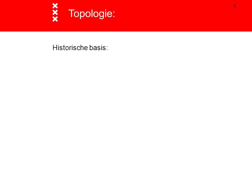 19 Belangrijkste concepten:  Topologische eigenschappen: - adjacency, - connectivity, - containment.
