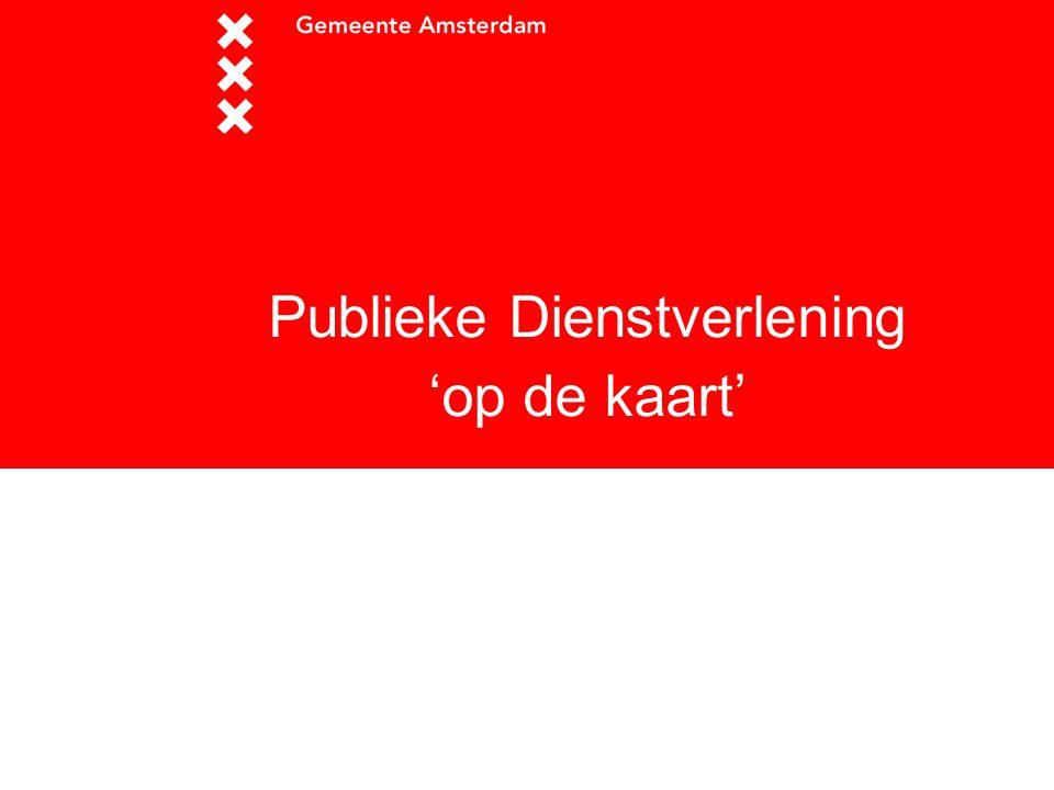 Publieke Dienstverlening 'op de kaart'