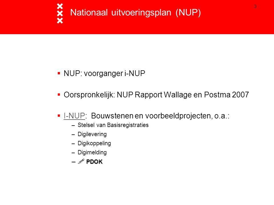 3 Nationaal uitvoeringsplan (NUP)  NUP: voorganger i-NUP  Oorspronkelijk: NUP Rapport Wallage en Postma 2007  I-NUP: Bouwstenen en voorbeeldproject