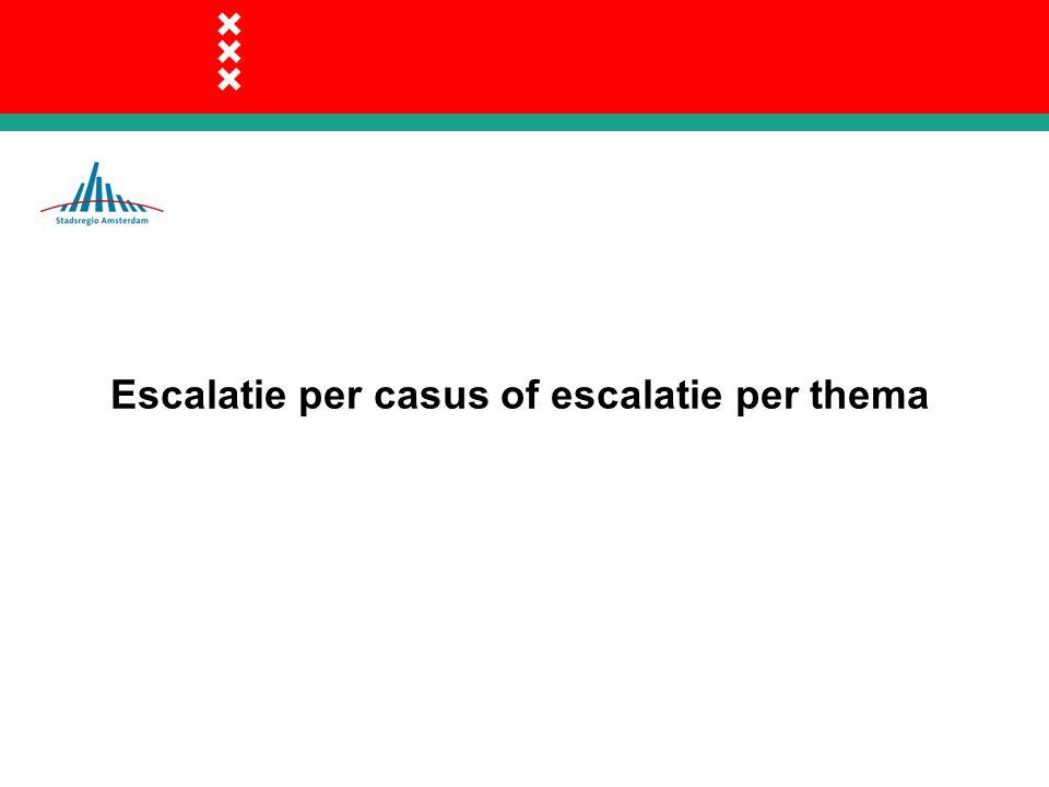 Escalatie per casus of escalatie per thema