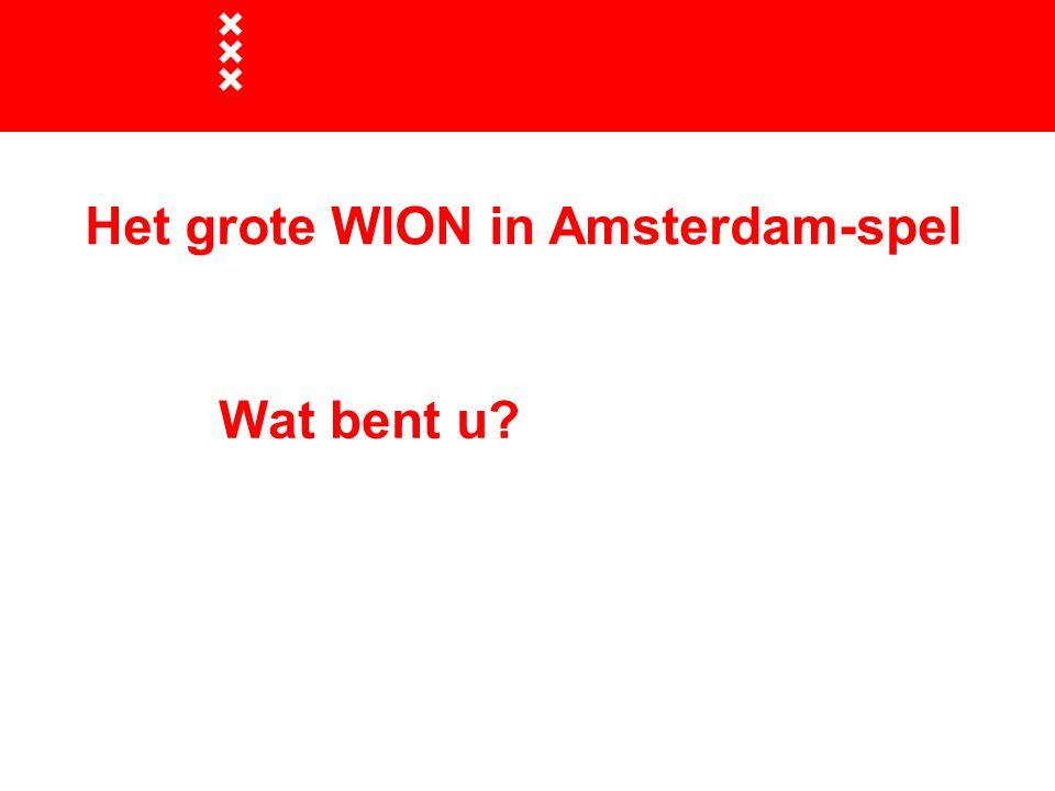 Wat bent u Het grote WION in Amsterdam-spel