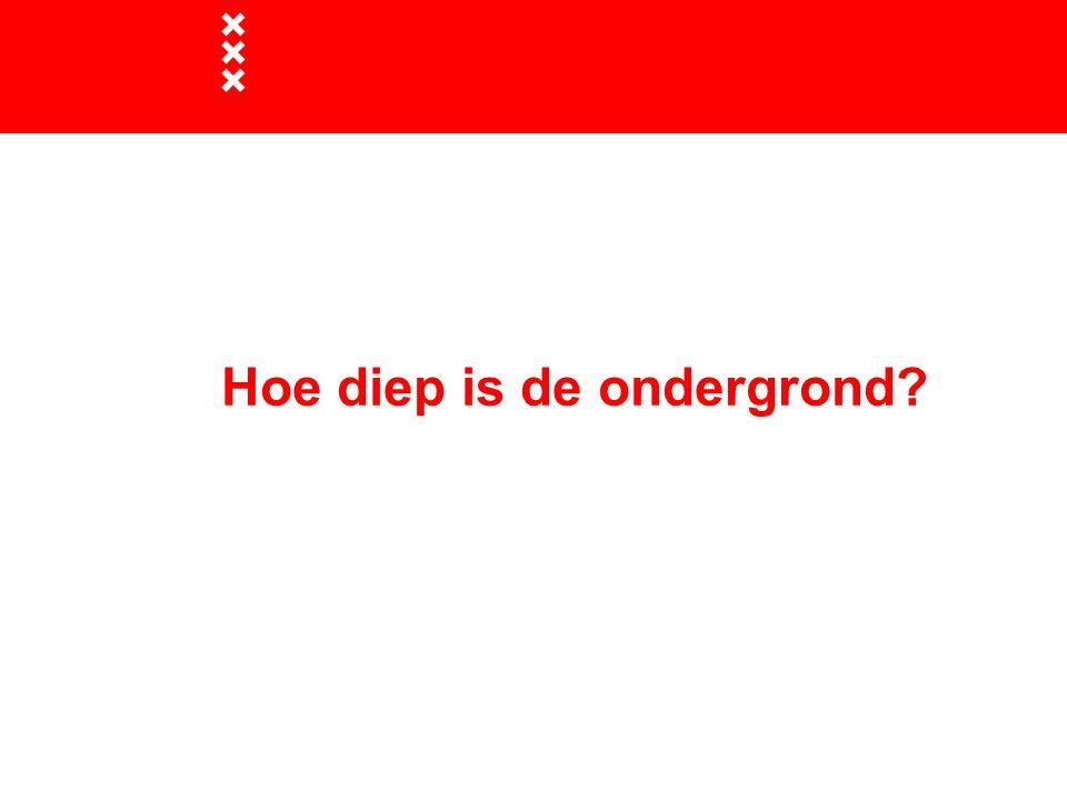 Hoe diep is de ondergrond?