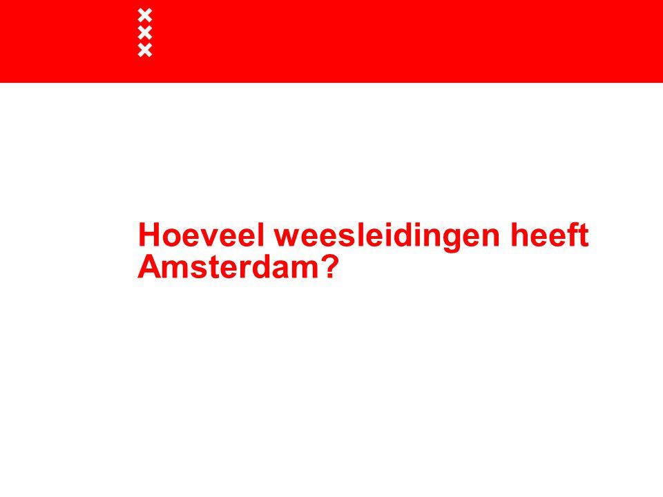 Hoeveel weesleidingen heeft Amsterdam?