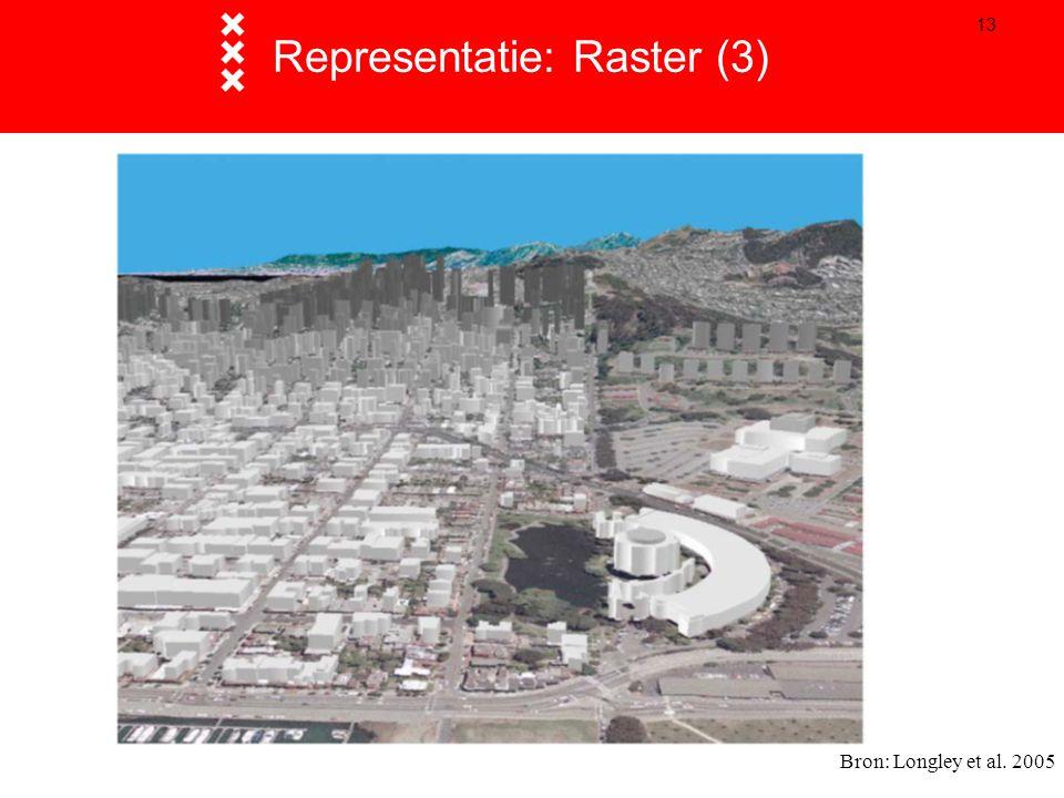 13 Representatie: Raster (3) Bron: Longley et al. 2005