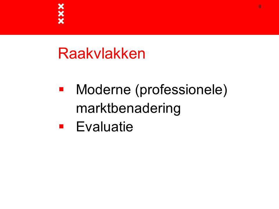 9 Professionele marktbenadering  Vroegtijdig en weloverwogen kiezen voor contractvorm  Markt kan eerder in beeld komen, maar hoeft niet.