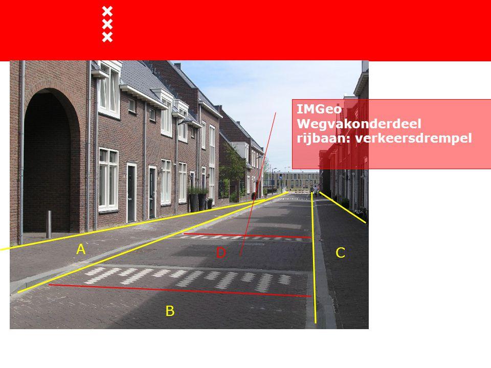A B CD IMGeo Wegvakonderdeel rijbaan: verkeersdrempel